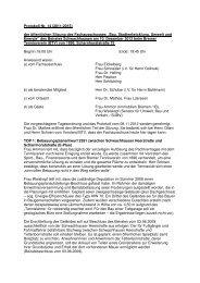 Protokoll öffentlich 10 12 12 - Ortsamt Schwachhausen/Vahr - Bremen