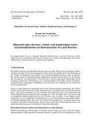 Übersicht über die kurz-, mittel - Ortsamt Schwachhausen/Vahr