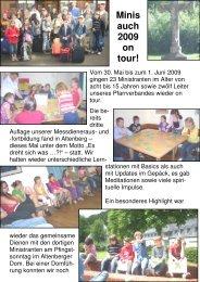 Minis auch 2009 on tour - Ortsausschuss Bonn-Dransdorf