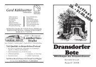 Dransdorfer Dorffest - Ortsausschuss Bonn-Dransdorf