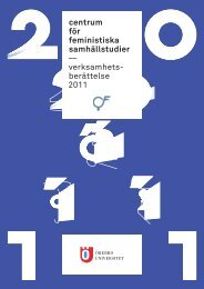 Verksamhetsberättelse 2011 - Örebro universitet