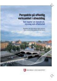Perspektiv på offentlig verksamhet i utveckling - Örebro universitet