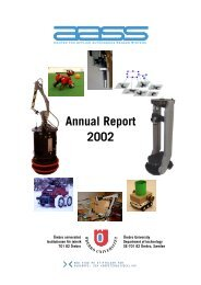 Annual Report 2002 - Örebro universitet