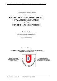 En studie av standardiserad utvärderingsmetod ... - Örebro universitet
