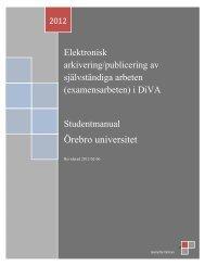 (examensarbeten) i DiVA - Örebro universitet