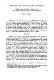 A Békés Megyei Múzeumok Közleményei 24-25. (Békéscsaba, 2003)