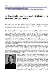 A hypertonia magyarországi története – a kezdetek 1880-tól 1993-ig