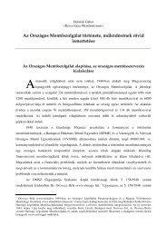 Az OMSZ rövid története és mûködésének ismertetése - Országos ...