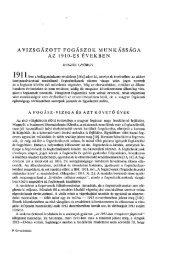 AVIZSGÁZOTT FOGÁSZOK MUNKÁSSÁGA AZ 1910-ES ÉVEKBEN