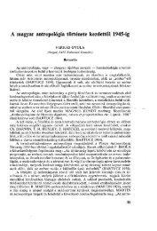 A magyar antropológia története kezdettől 1945-ig