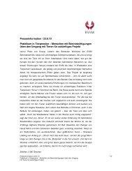 Presseinformation / 23.6.10 Praktikum in Tierpension ... - Evim