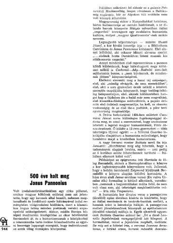 500 éve halt meg Janus Pannonius
