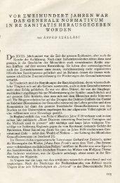 vor zweihundert ]ahren war das generale normativum in re sanitatis ...