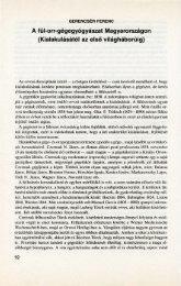 A fül-orr-gégegyógyászat Magyarországon (Kialakulásától az első ...