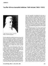 Tauffer Vilmos tanszéki örököse: Tóth István (1865-1935)