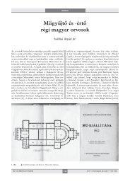 Műgyűjtő és -értő régi magyar orvosok