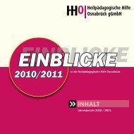 Jahresbericht 2010 / 2011 - Heilpädagogischen Hilfe Osnabrück
