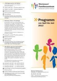 Programm April bis Juni 2013