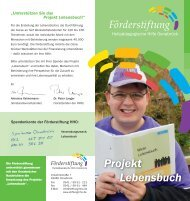 Infoflyer zum Projekt - Heilpädagogischen Hilfe Osnabrück