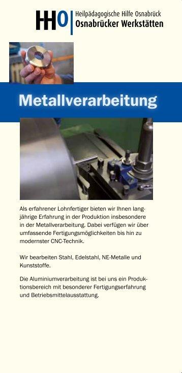 """Flyer """"Metallverarbeitung"""""""