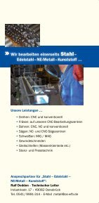 """Flyer """"Metallverarbeitung"""" - Page 2"""