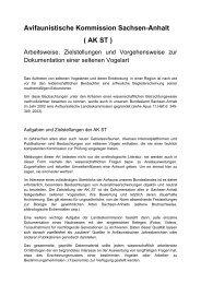 AK ST - Ornithologenverband Sachsen-Anhalt eV