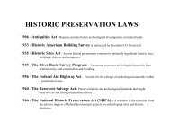 HISTORIC PRESERVATION LAWS - Osage Nation