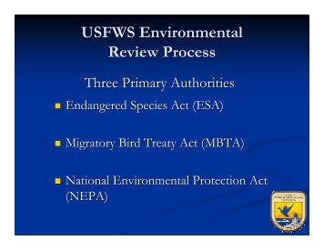 USFWS Environmental Review Process - Osage Nation