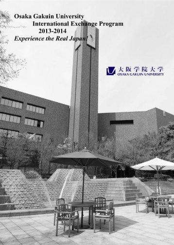 Osaka Gakuin University International Exchange Program 2013 ...