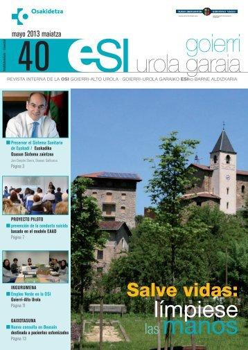 Revista Mayo 2013 ( pdf , 1 MB) - Osakidetza - Euskadi.net