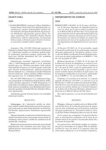 4606&B.O.P.V. N.¼ 122 - Osakidetza - Euskadi.net