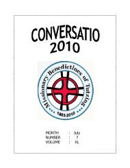 conversatio, July 2010 - Welcome to the Missionary Benedictine ...