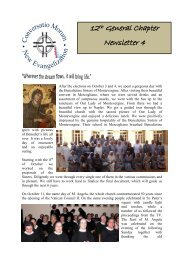 Newsletter No. 4 - Welcome to the Missionary Benedictine Sisters of ...