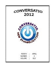 Conversatio April 2012 - Welcome to the Missionary Benedictine ...