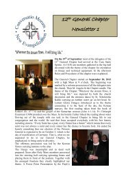 Newsletter No. 1 - Welcome to the Missionary Benedictine Sisters of ...