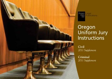 Oregon Uniform Jury Instructions - Oregon State Bar