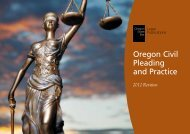 Oregon Civil Pleading and Practice - Oregon State Bar
