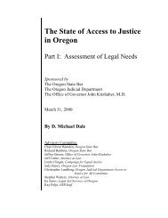 The State of Access to Justice in Oregon. Part I - National Legal Aid ...