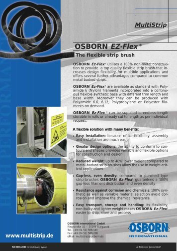 OSBORN EZ-Flex ® - OSBORN-International