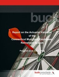 Report on the Actuarial Valuation of the Connecticut Municipal ...