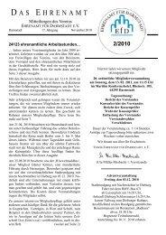 D A S E HRENAMT - Ehrenamt für Darmstadt