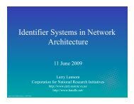 Identifier Systems in Network Architecture