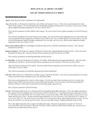 85aa-fact-sheet - Academy of Motion Picture Arts and Sciences