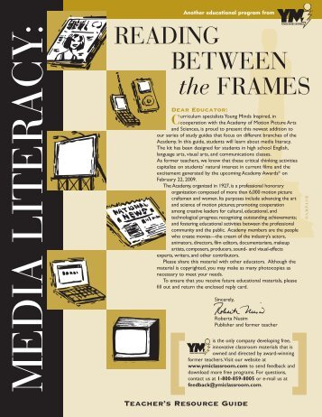 READING BETWEEN the FRAMES - Academy of Motion Picture Arts ...