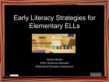 Early Literacy Strategies for Elementary ELLs