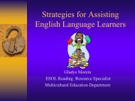 Strategies for Assisting English Language Learners