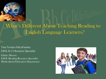 What's Different About Teaching Reading to English Language ...