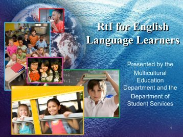 The Promises of RtI for English Language Learners