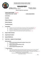 Agenda - Tuesday, March 15, 2011 - Osceola County School District