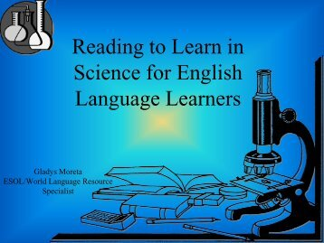 Reading to Learn in Science for English Language Learners